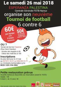 9e tournoi Sixte Esperanza Palestine @ Terrain de Foot de Flawinne | Namur | Wallonie | Belgique