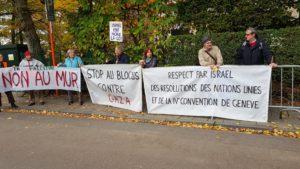 390e Rassemblement devant l'ambassade d'Israël @ Bruxelles