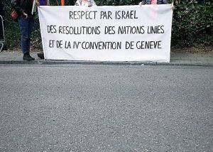 395ème rassemblement devant l'ambassade d'Israël @ Ambassade d'Israël