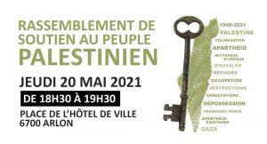 Arlon - Rassemblement de soutien au peuple palestinien @ Place de l'Hotel de Ville