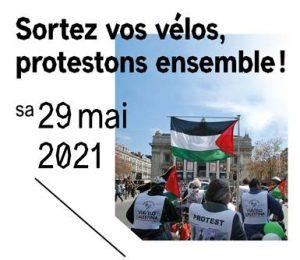 Randonnée ViaVelo Palestina @ Bruxlles - Cinquantenaire (côté Schuman)